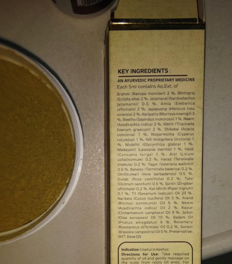 ayurvedic hair oil ingredients
